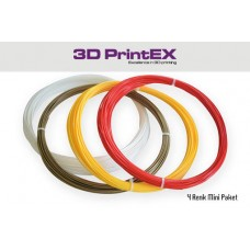 4 Renk MİNİ PAKET  PLA   Red, Yellow, Bronz Gold, White